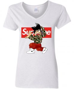 Goku x Supreme Bape Woman's V-Neck T-Shirt