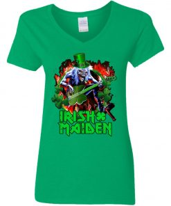 Iron Maiden Irish Woman's V-Neck T-Shirt