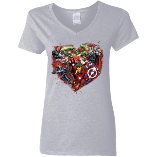 Marvelaholic Avenger Fans Woman's V-Neck T-Shirt