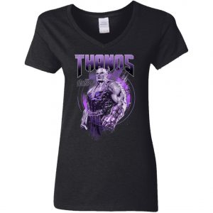 Power Of Thanos Woman's V-Neck T-Shirt