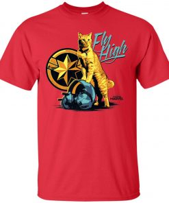 Captain Marvel Goose Cat Fly High Men's T-Shirt