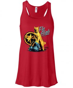 Captain Marvel Goose Cat Fly High Women's Tank Top