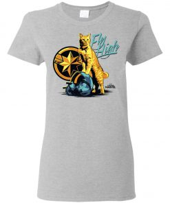 Captain Marvel Goose Cat Fly High Women's T-Shirt