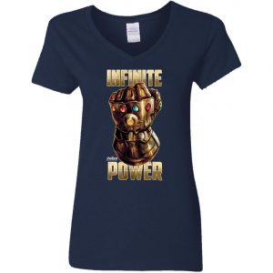 Thanos The Infinity Gauntlet Power Woman's V-Neck T-Shirt