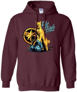 Captain Marvel Goose Cat Fly High Hoodie