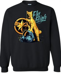 Captain Marvel Goose Cat Fly High Sweatshirt