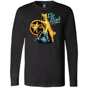 Captain Marvel Goose Cat Fly High Long Sleeve