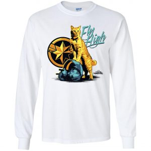 Captain Marvel Goose Cat Fly High Youth Sweatshirt