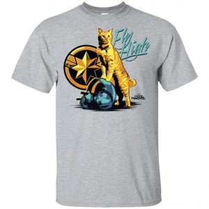 Captain Marvel Goose Cat Fly High Youth T-Shirt