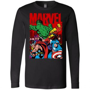 Marvel Avenger Vintage Poster Long Sleeve