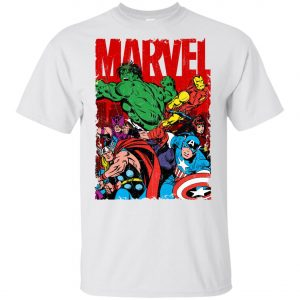 Marvel Avenger Vintage Poster Youth T-Shirt