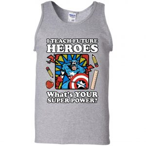 I Teach Future Heroes Teacher's Power Men's Tank Top