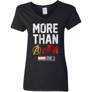 More Than Avenger Fan Marvel 10 Years Woman's V-Neck T-Shirt