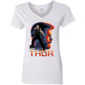 Avenger Thor Profile Woman's V-Neck T-Shirt