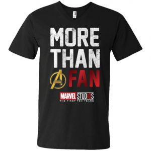 More Than Avenger Fan Marvel 10 Years V-Neck T-Shirt