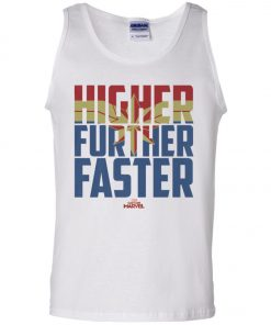 Retro Captain Marvel Higher Further Faster Tank Top
