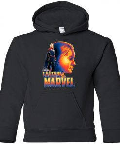 Captain Marvel Profile Youth Hoodie