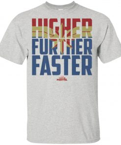 Retro Captain Marvel Higher Further Faster Youth T-Shirt