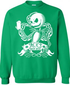 Jack Skellington Irish Shamrock copy Sweatshirt