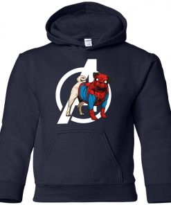 Marvel Avengers Spider-Man Pug Dog Youth Hoodie