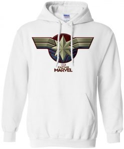 Captain Marvel Distressed Star Ribbon Pullover Hoodie