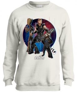 Marvel Thor Groot Rocket Raccon Team Youth Sweatshirt