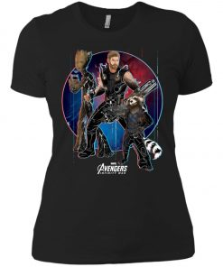 Marvel Thor Groot Rocket Raccon Team Women's T-Shirt