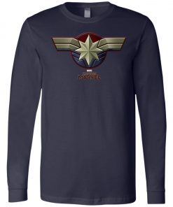 Captain Marvel Distressed Star Ribbon Long Sleeve