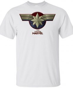 Captain Marvel Distressed Star Ribbon Youth T-Shirt