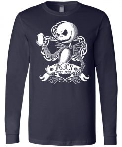 Jack Skellington Irish Shamrock copy Long Sleeve