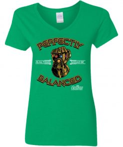 Thanos Infinity Gauntlet Perfectly Balanced Women's V-Neck T-Shirt