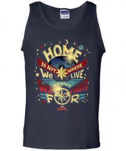 Captain Marvel Home Is What We Fight For Tank Top