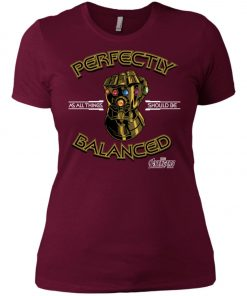 Thanos Infinity Gauntlet Perfectly Balanced Women's T-Shirt