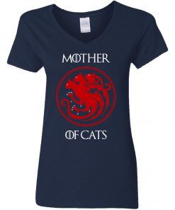 Game Of Thrones Mother Of Cats Women's V-Neck T-Shirt