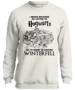 Game Of Thrones Winterfell Hogwarts Letter Youth Sweatshirt