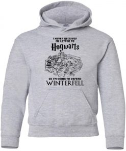 Game Of Thrones Winterfell Hogwarts Letter Youth Hoodie