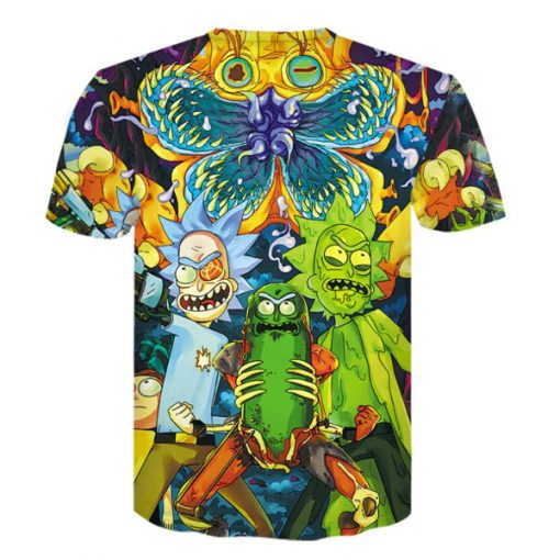 Rick & Morty Pickle Rick Cucumber Morty 3D All-over Prints T-Shirt