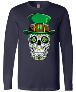 Irish Sugar Skull St Patrick's Day Long Sleeve