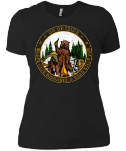 Camping Funny Go Outside Bear Women's T-Shirt