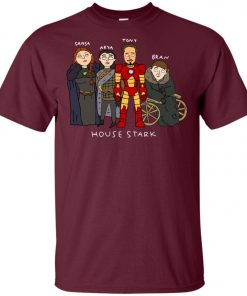 Game Of Thrones House Stark Ironman Black Unisex T-Shirt