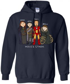 Game Of Thrones House Stark Ironman Black Pullover Hoodie