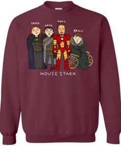 Game Of Thrones House Stark Ironman Black Sweatshirt