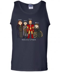 Game Of Thrones House Stark Ironman Black Tank Top