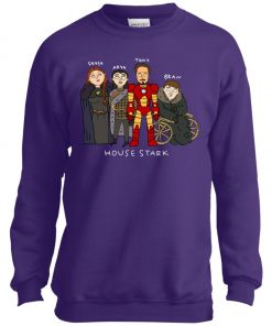 Game Of Thrones House Stark Ironman Black Youth Sweatshirt
