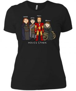 Game Of Thrones House Stark Ironman Black Women's T-Shirt