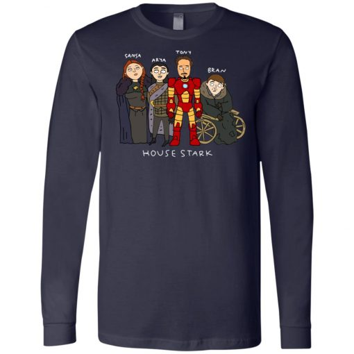 Game Of Thrones House Stark Ironman Black Long Sleeve