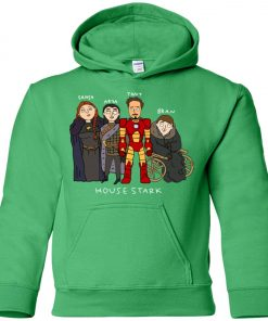 Game Of Thrones House Stark Ironman Black Youth Hoodie