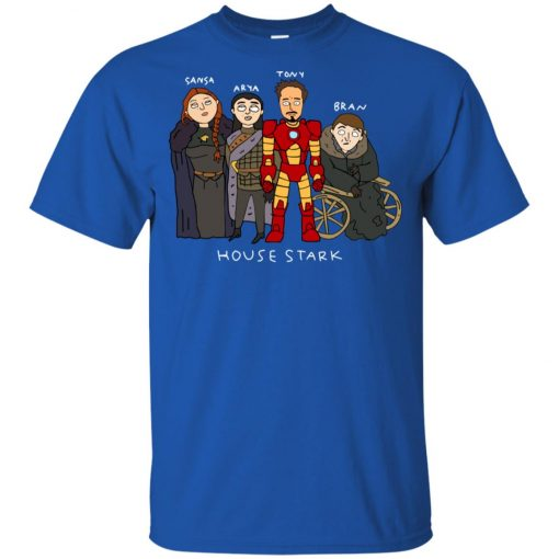 Game Of Thrones House Stark Ironman Black Youth T-Shirt