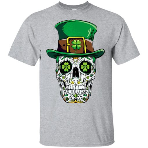 Irish Sugar Skull St Patrick's Day Unisex T-Shirt
