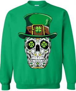 Irish Sugar Skull St Patrick's Day Sweatshirt
